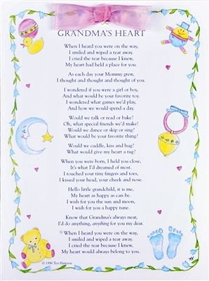 What To Write In A Baby Shower Card From Grandparents : write, shower, grandparents, Grandmas, Heart, Greeting, Grandchild, Grandma, Quotes,, Poem,, Shower, Sayings