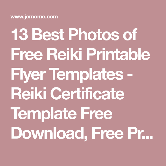 13 best photos of free reiki printable flyer templates reiki