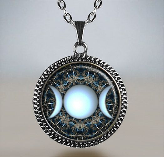 sweater pendants pagan charms fashion necklaces chain jewelry free moon goddess diy spiritual silver vintage item necklace pentagram hot protection