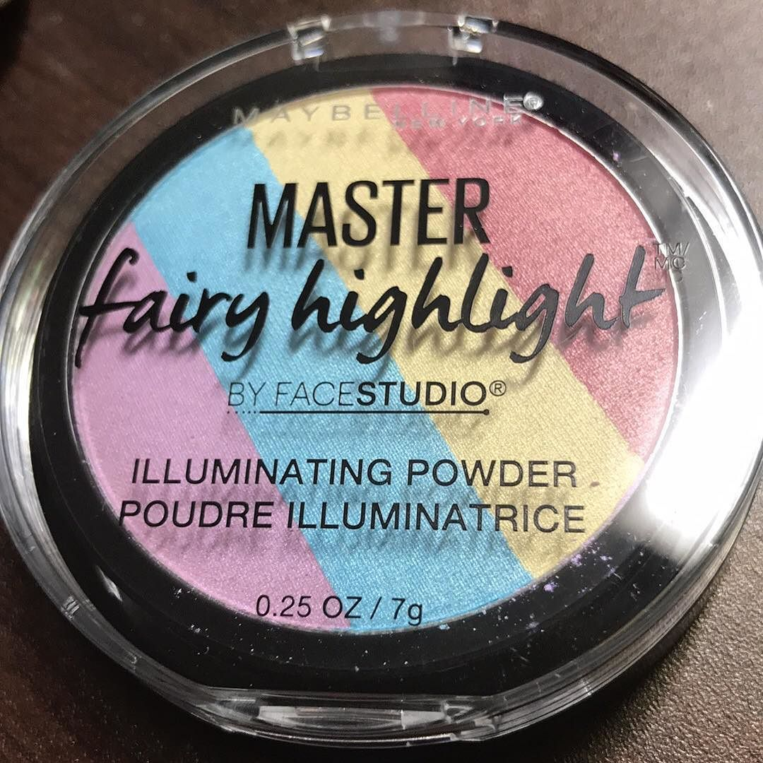 New #rainbowhighlighter from #maybelline can't wait to use it.