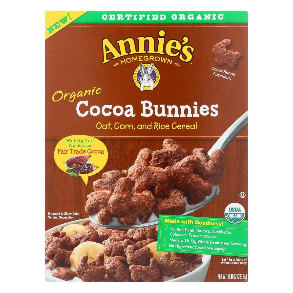 Annie's Homegrown Organic Cocoa Bunnies Oat With Corn And