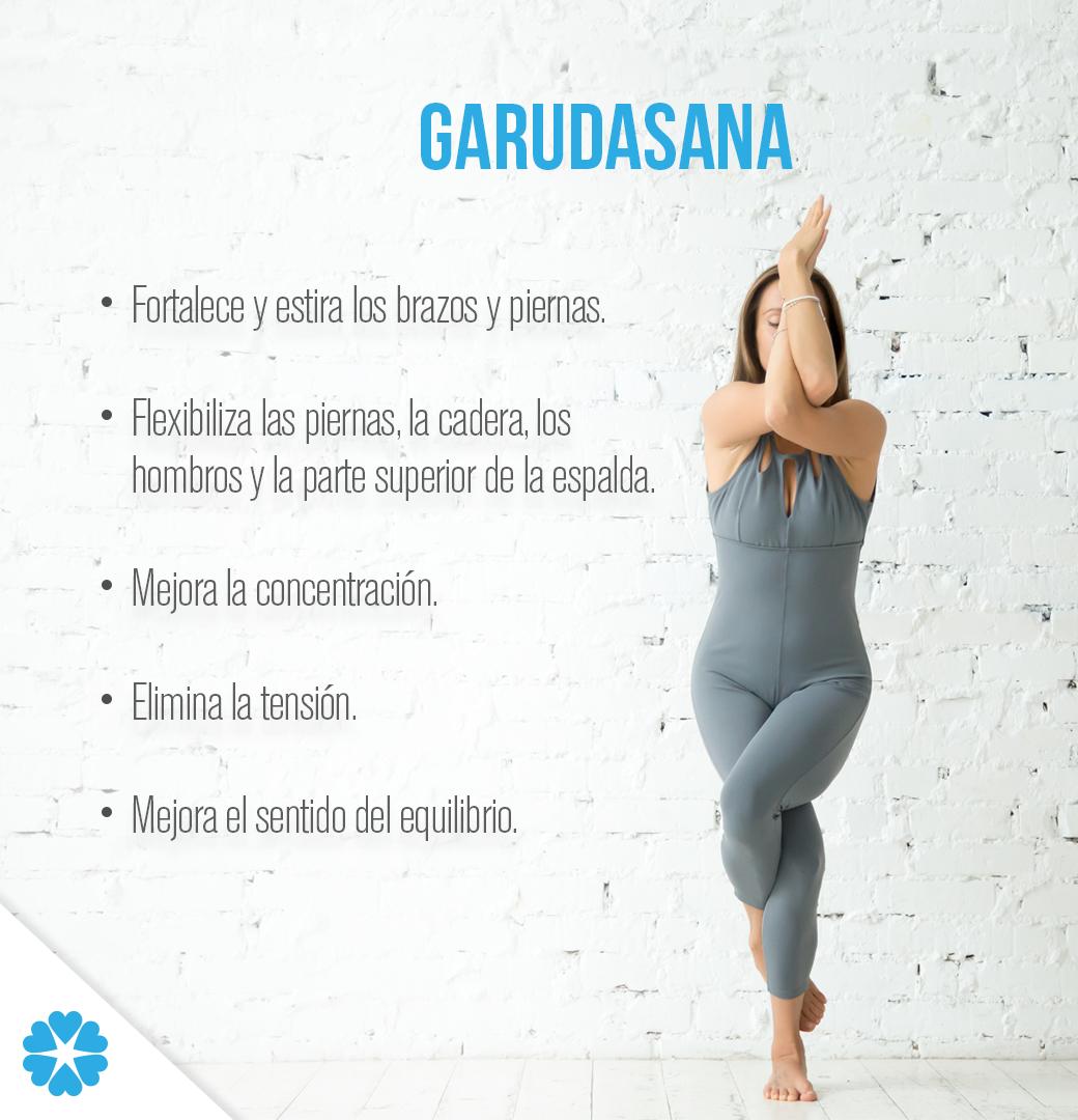 Realizar la postura Garudasana te ayudará a activar la energía del ...