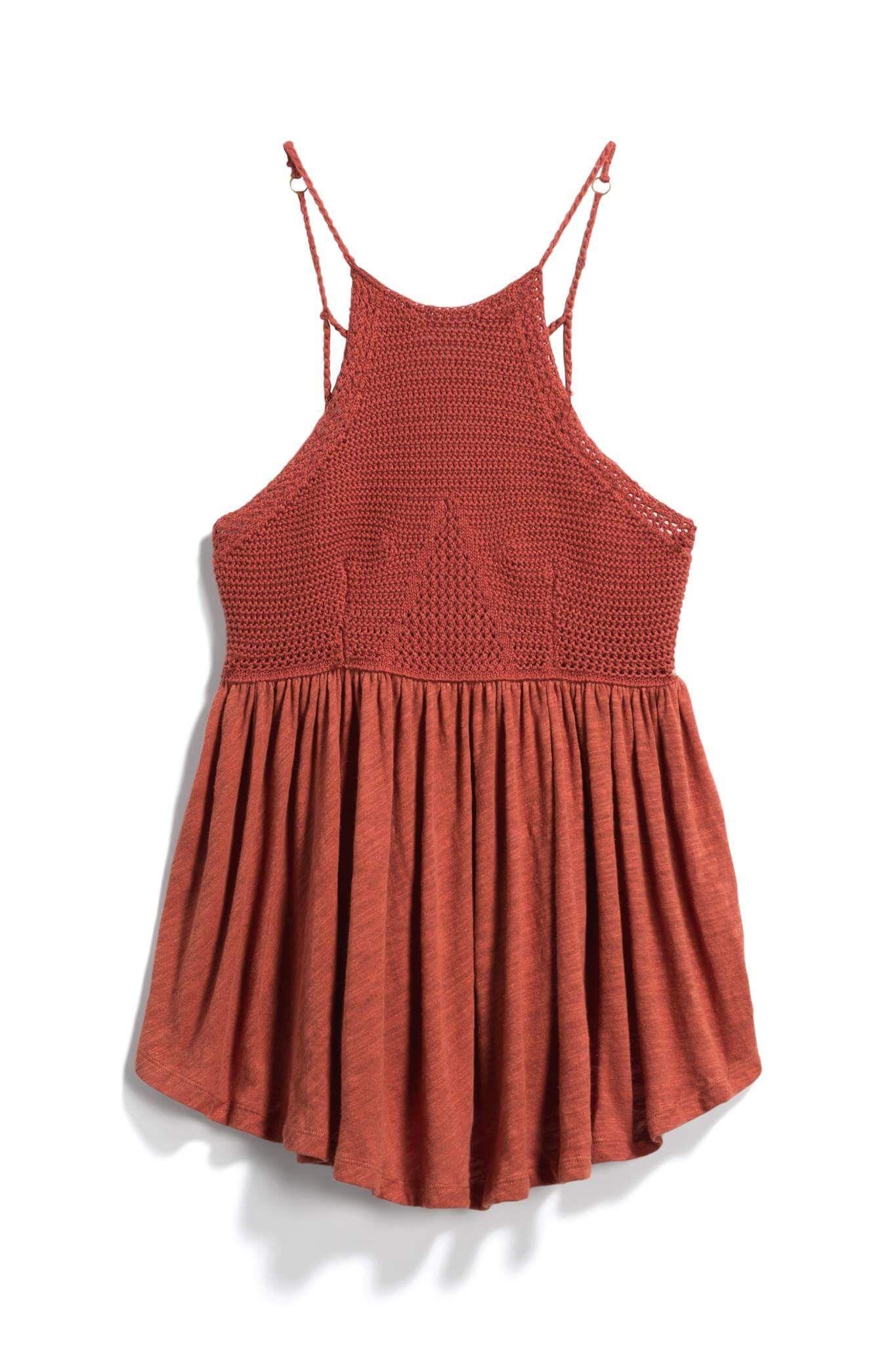 Burnt orange halter top stitch fix style quiz referral link