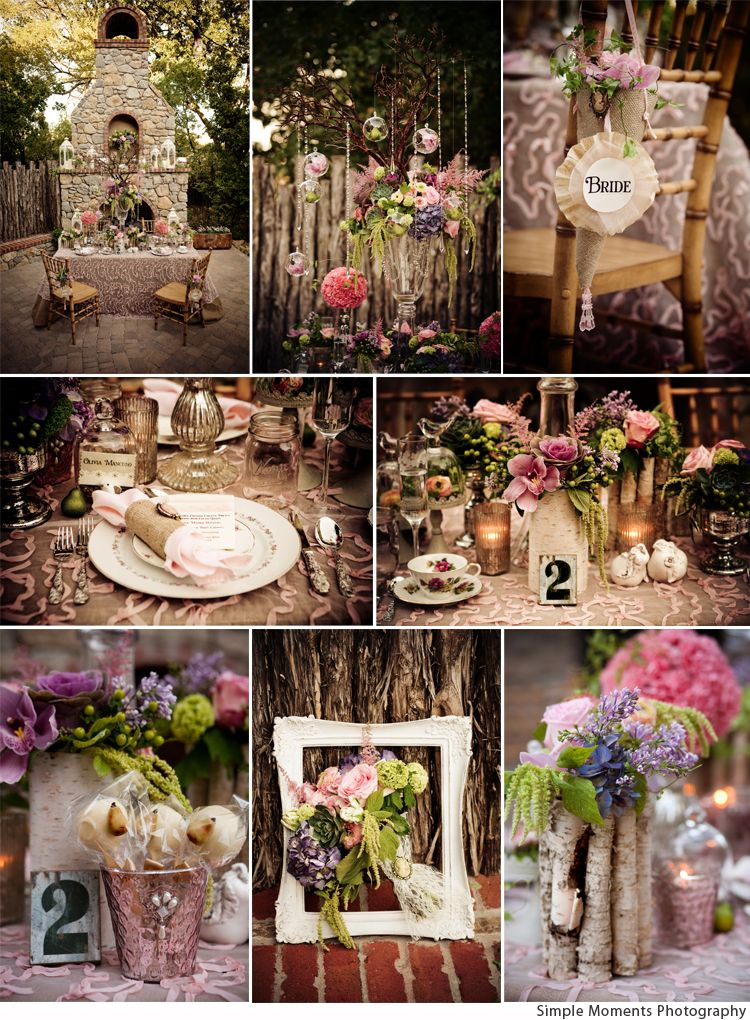 Vintage Meets Romance Whimsical THIS Not Country Just Soft Romantic And Sweetly Wedding Table ThemesGarden