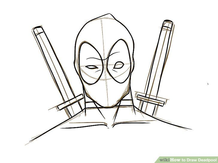 Image Result For Deadpool Pencil Drawing
