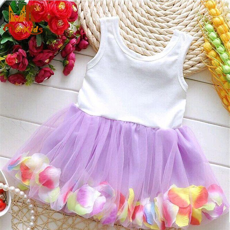 Mk 2017 뜨거운 판매 아기 소녀 귀여운 드레스 레이스 꽃 꽃 bowknot 얇은 명주 그물 아이 아기 소녀 dress 어린이 여자 의류