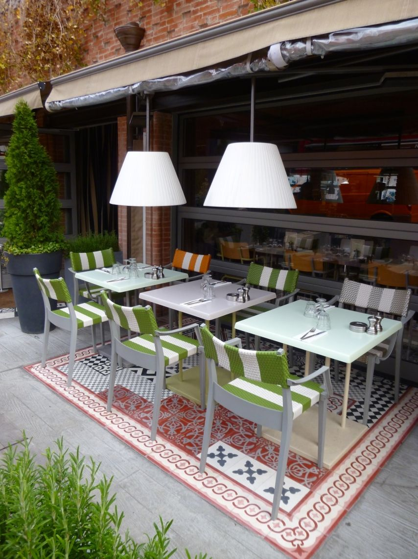 terrasse tapis carreaux de ciment