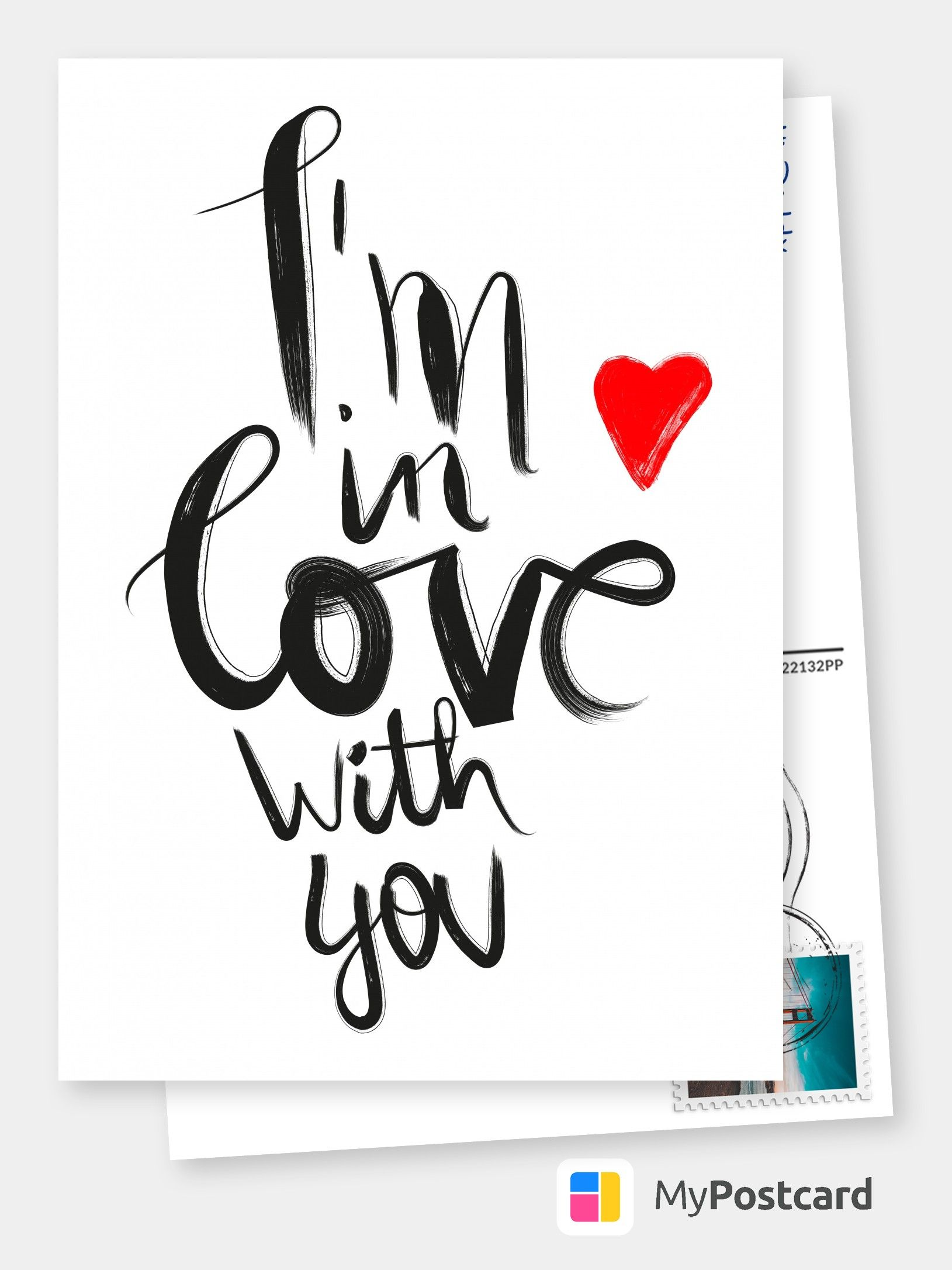 Free International Shipping I Love You Cards Online Printed Mailed For You Customized Personalized Photo Cards Postcards Greeting Cards Liebeskarten Karte Liebe Postkarten