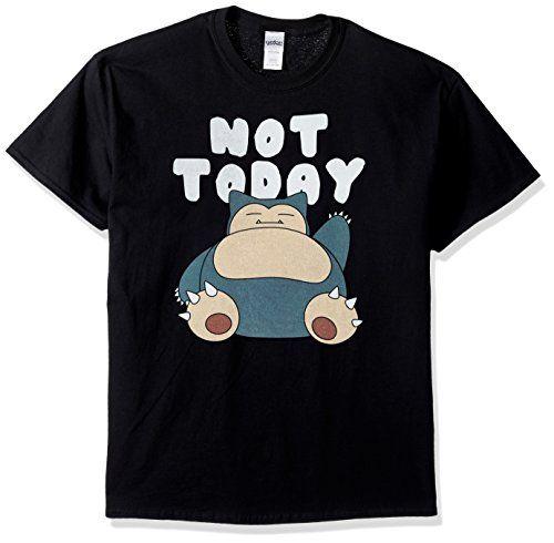 Pokemon Men's Snorlax Not Today T-Shirt, Black, Medium - Pokemon Tshirt for  Men | iwantpokemon.com
