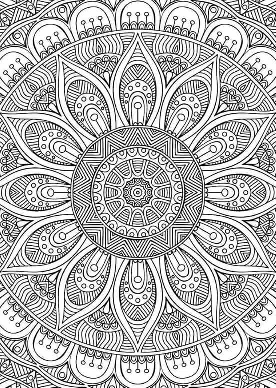 Mandala coloring pages colouring adult detailed advanced printable kleuren voor volwassenen - Mandala pour adulte ...