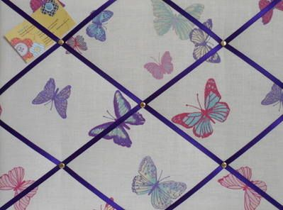Medium Laura Ashley Summer Meadow Butterfly Hand Crafted Fabric Notice / Pin / Memo Board £16.99