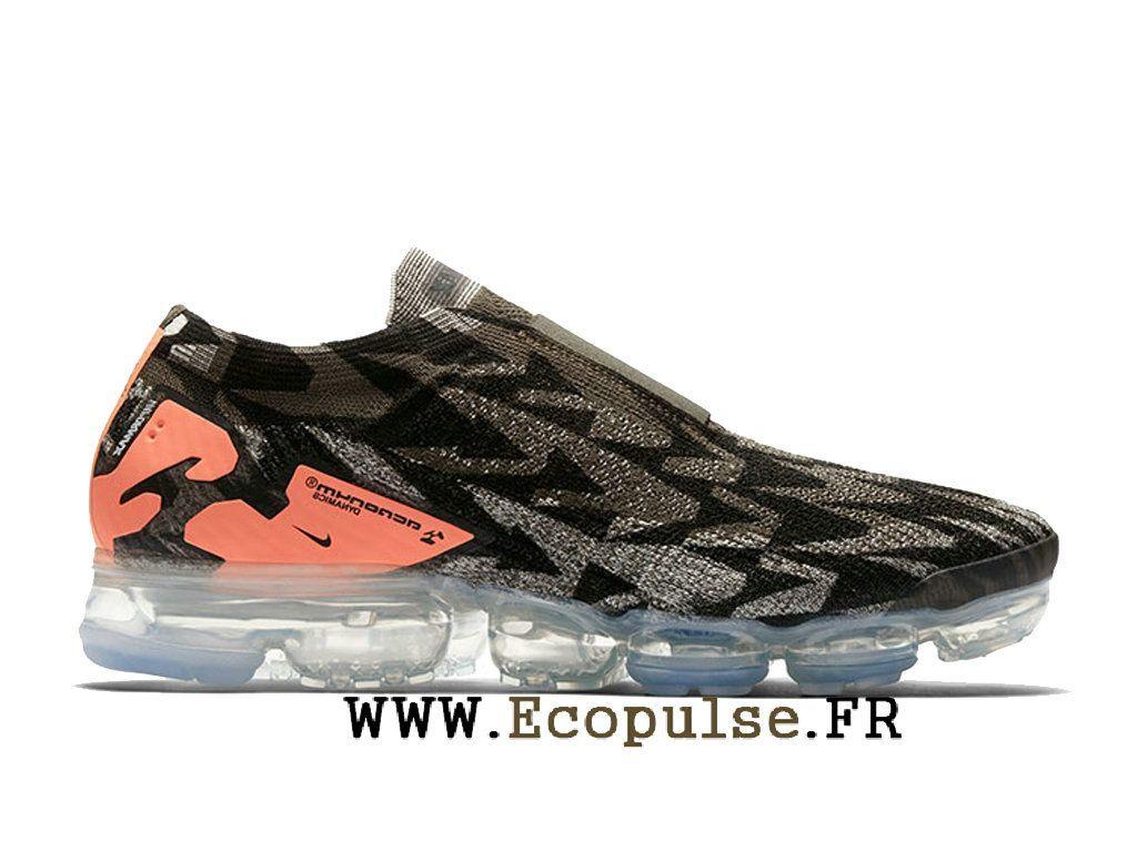 premium selection 13e9a fe740 Nike Vapormax Flyknit 2.0 Chaussures Nike 2018 Pas Cher Pour Homme Noir et  blanc AQ0996-102