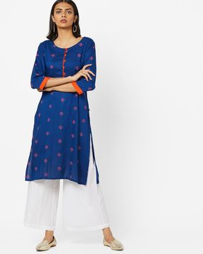 98f01ee5618 AVAASA MIX N' MATCH - Geometric Print Straight Kurta | dress | Mix n ...