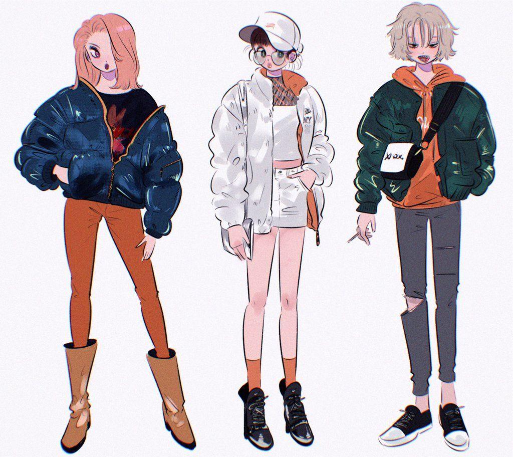 ᴰʳ.ᴍᴏʀɪᴄᴋʏ (mmoriqomm) Twitter Girls illustration