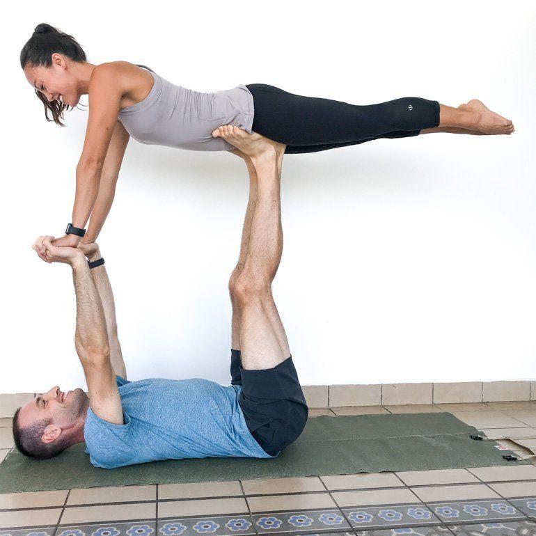 Couple S Yoga Poses 23 Easy Medium Hard Yoga Poses For Two People In 2020 Couples Yoga Poses Yoga Poses For Two Partner Yoga Poses