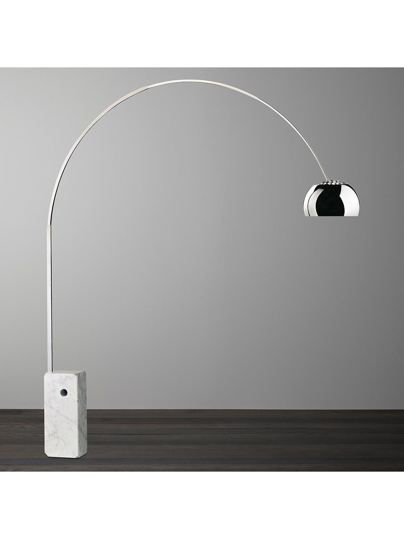 Flos Arco Floor Lamp Silver In 2020 Arco Floor Lamp