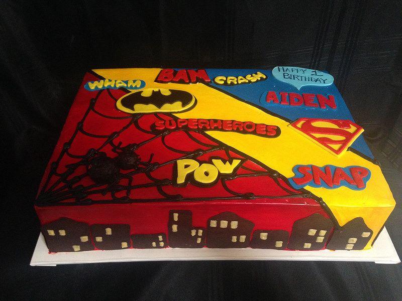 Superhero Sheet Cake 3038 Superhero Birthday Cake
