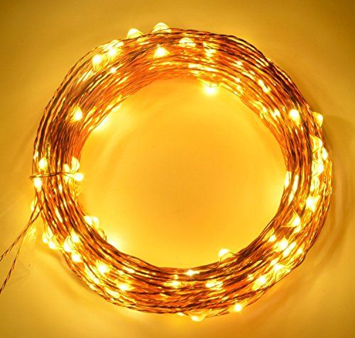 2 PacksFOXNOV LED String Lights Christmas Lights 12 Metre40Ft 120 Leds Warm White Decor Lights for Christmas Indoor and Outdoor Holiday Decoration Wedding and Party *** More info could be found at the image url.