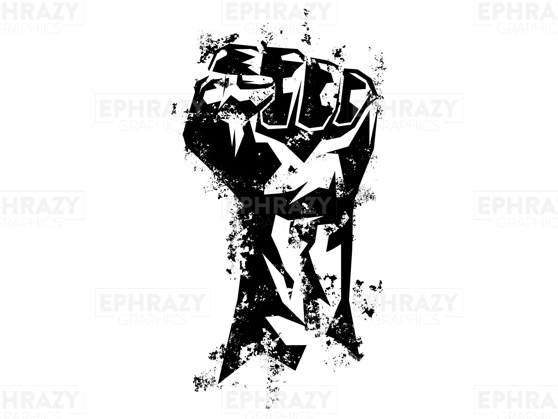 Raised Fist Protest Symbol Black Lives Matter Svg Raised Fist Vector Illustration Symbols