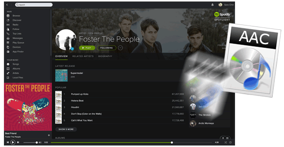 This is a tutorial about how to convert Spotify music to AAC with a few steps.