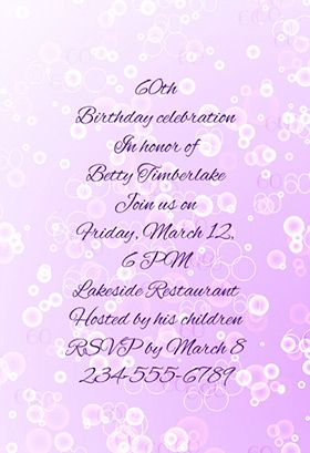 60th printable invitation template customize add text and photos