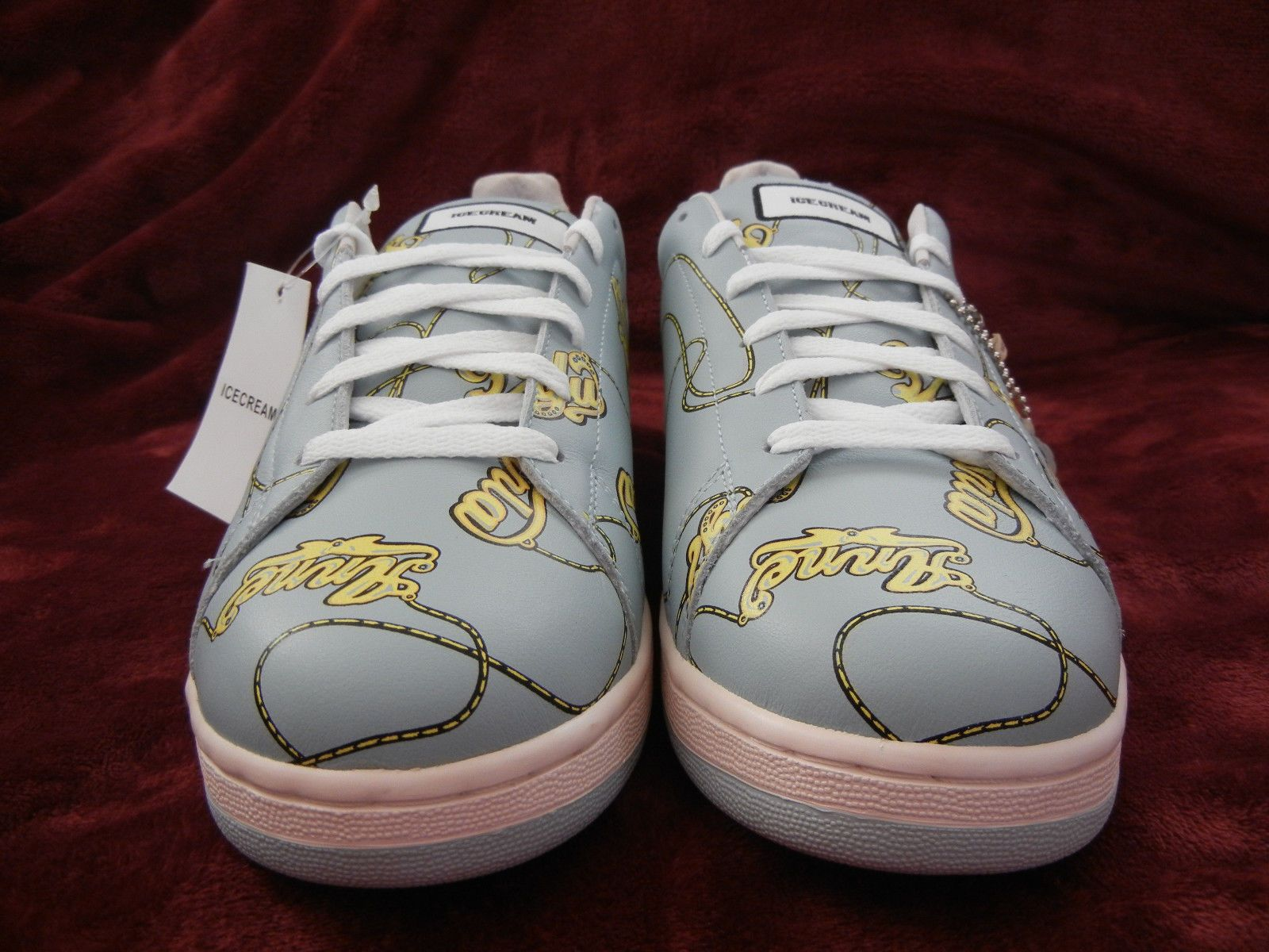 Reebok Ice Cream #NAME CHAIN Light Grey Sneakers SIZE 10 shoes pharrell BBC  DS