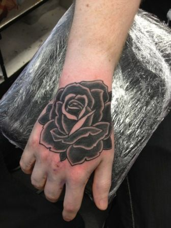 Black rose tattoos designs ideas and meaning tattoos for for Small black rose tattoo