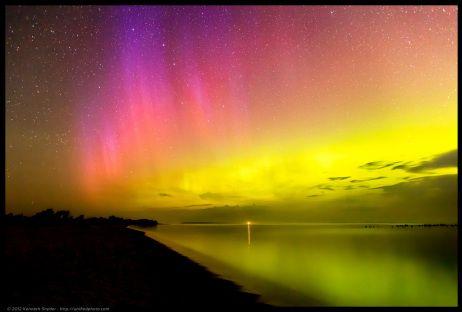 Unified Photography: Sleeping Bear Dunes Michigan Pictures &emdash; Sleeping Bear Bay Northern Lights