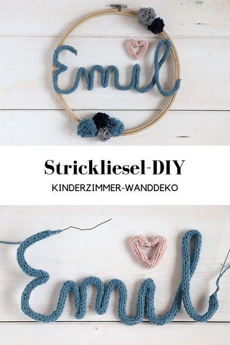 DIY: Strickliesel-Schrift als Kinderzimmerdeko - Lavendelblog