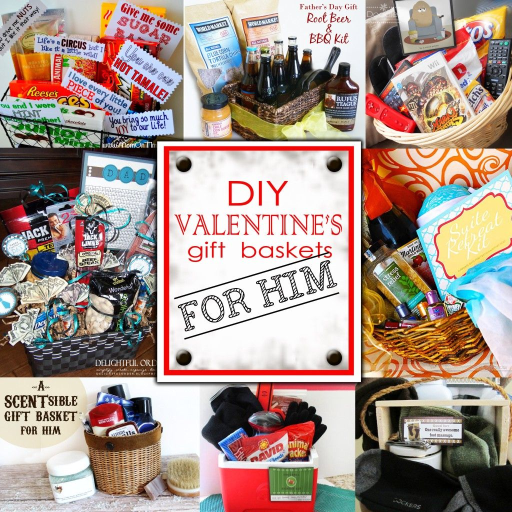 Diy valentine 39 s day gift baskets for him valentine 39 s for Valentine day gifts for him ideas