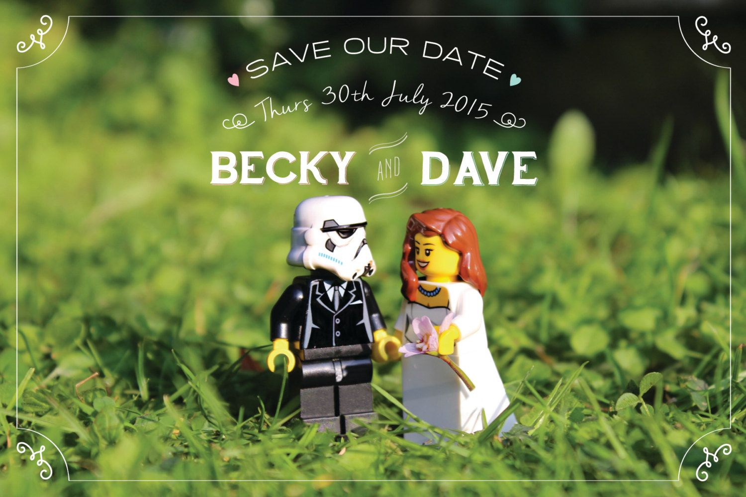 Star Wars Inspired Bride and Groom Save the Date