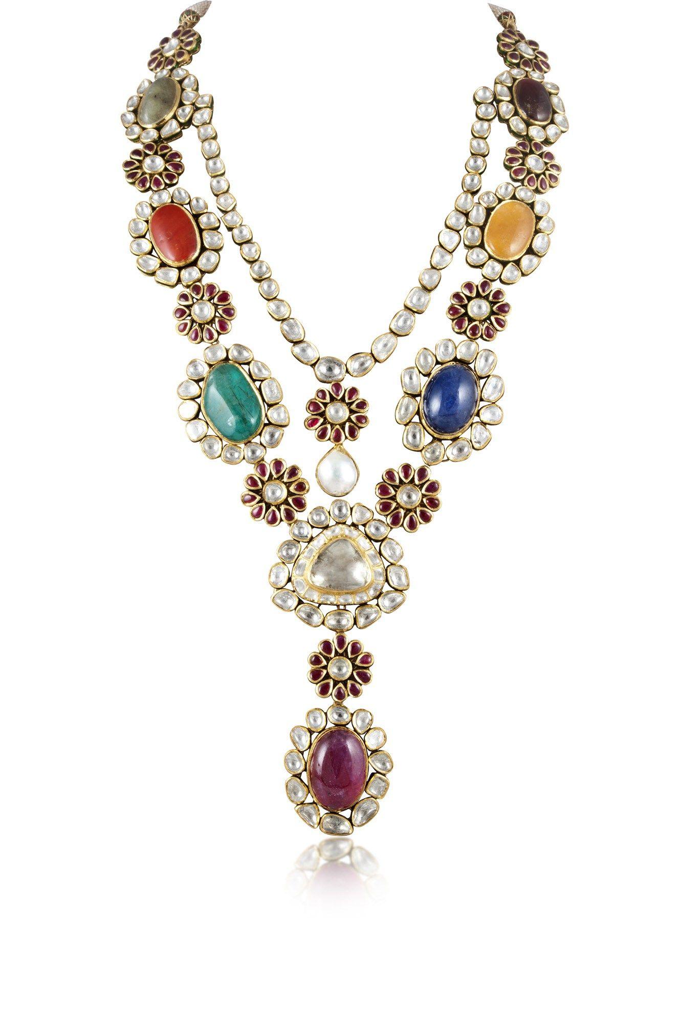 Hazoorilal legacy navratna necklace jewelry pinterest jewelry