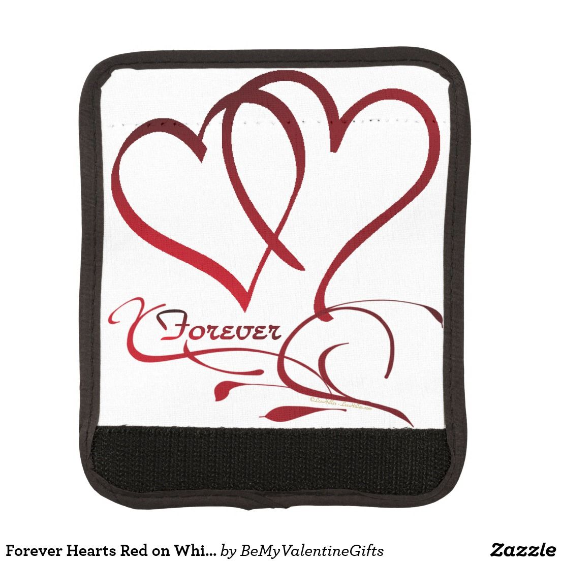 Forever Hearts Red on White Handle Wrap