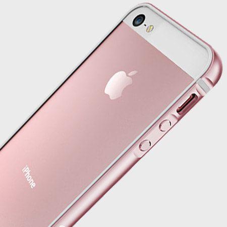 save off 86ee4 cafb7 X-Doria Bump Gear Plus iPhone SE Aluminium Bumper Case - Rose Gold ...