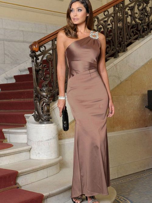 Cream and coffee color evening dress | Home :: Special Occasion ...