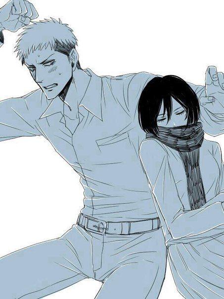 Attack on Titan / Shingeki no Kyojin AoT/SnK   Jean Kirstein/Kirschtein x Mikasa Ackerman JeanKasa/JeanMika   Anime Manga cute couple OTP
