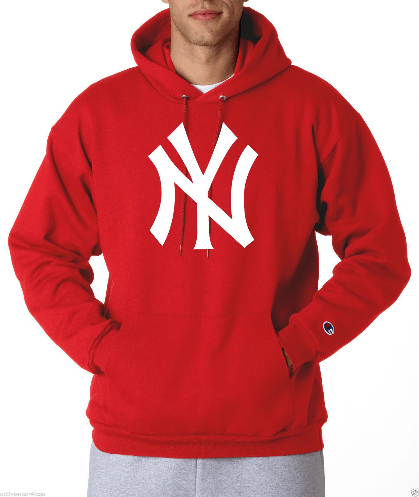 official photos 0d5f3 8ea88 New York Yankees NY Logo Champion Hoodie Pullover Sweatshirt ...