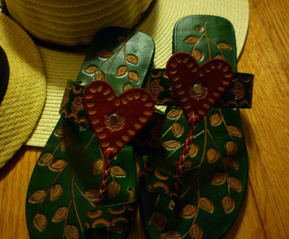 8bcea63a1106 Made in Guyana  Leafy Leather Sandals