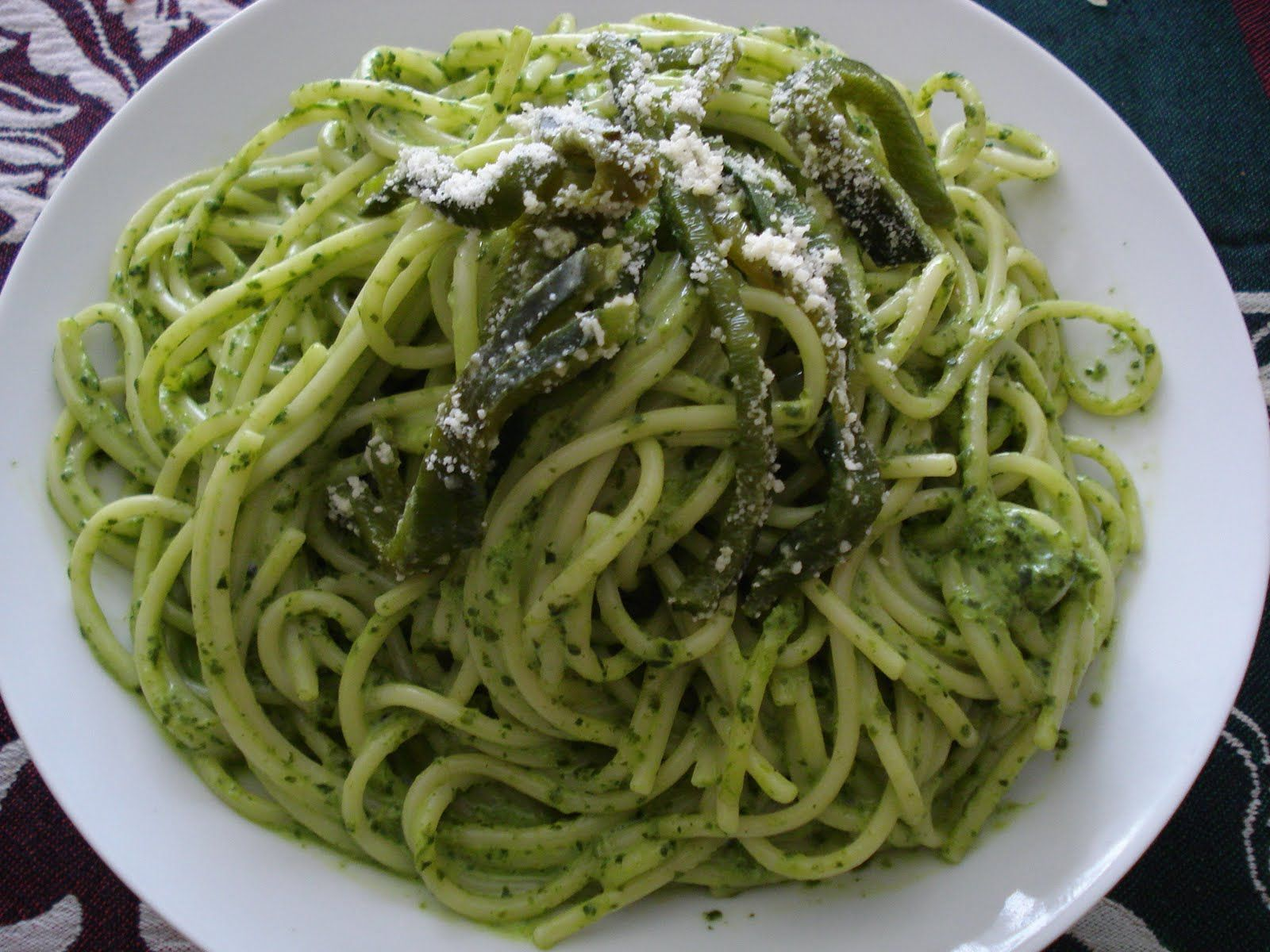 Espaguetti Verde | Recipe | Pasta sauces, Sauces and Cheese