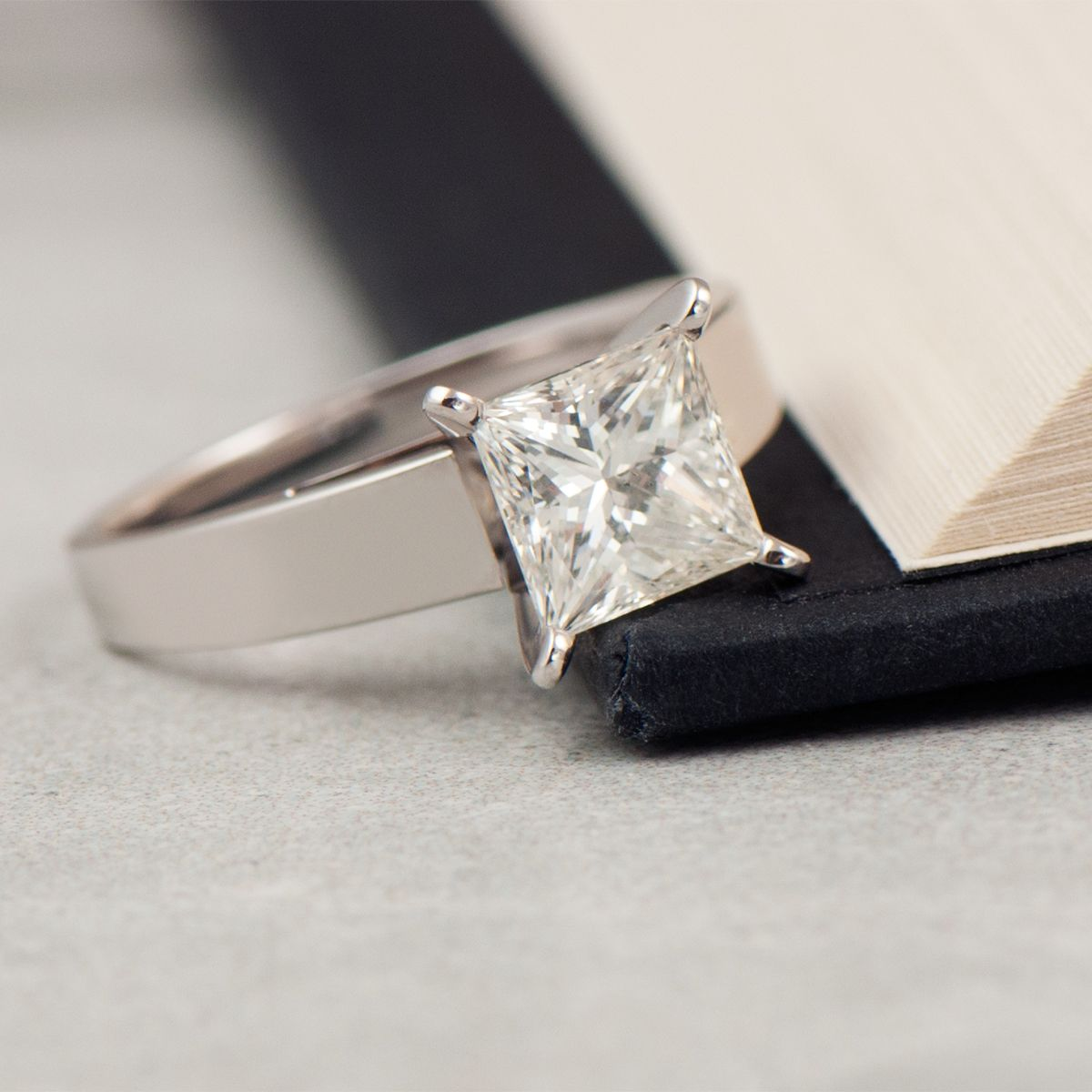 A classic symbol of your love story. solitaire