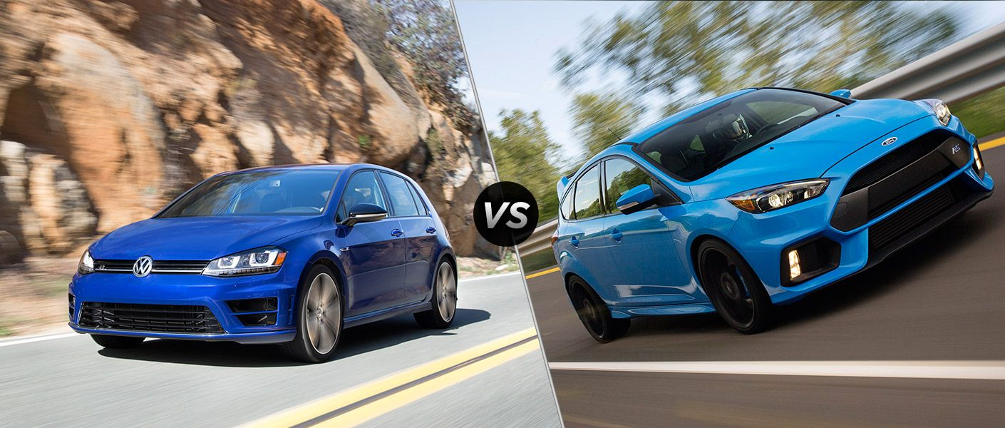 2017 Ford Focus Rs Vs 2017 Volkswagen Golf R Ford Focus
