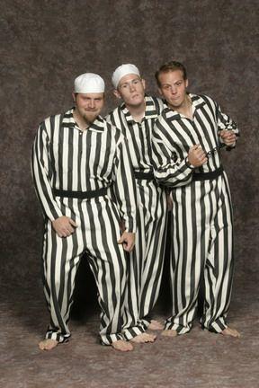 1000 Prison Jumpsuit Black White Striped Jumpsuits Wplastic