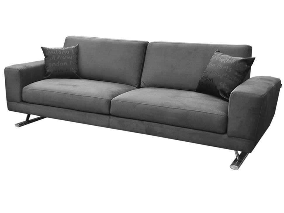 Sofa dexter gris contemporaneo tela muebles pinterest for Sofa modular gris