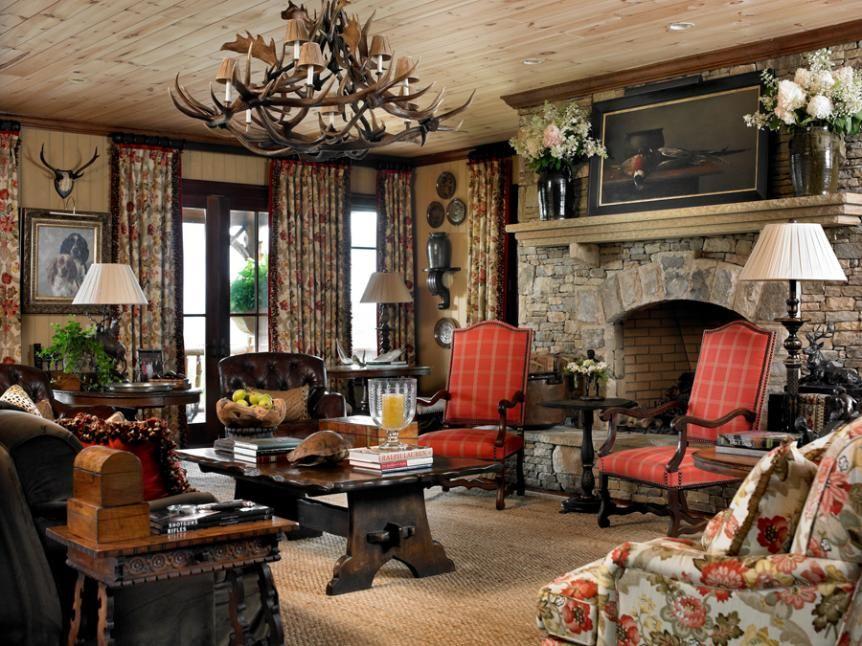Wonderful Lodge Cottage Atmosphere Stacked Stone