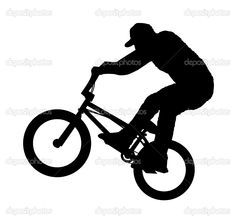 Silhouette Rest Bmx Bike Google Search Bike Drawing Bmx Bikes