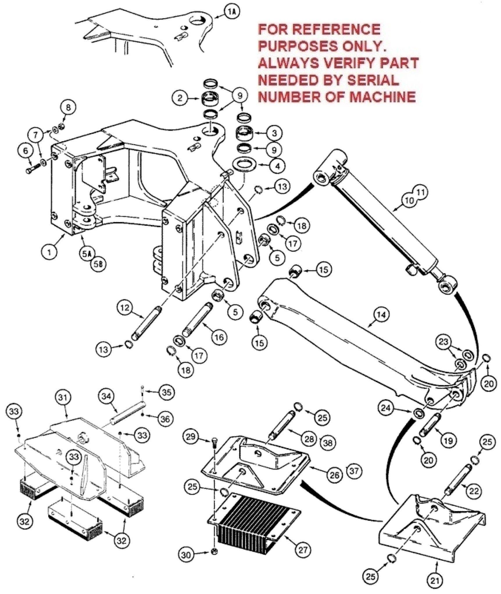 Case Backhoe Parts Diagram Case 580k Pre Jjg Loader