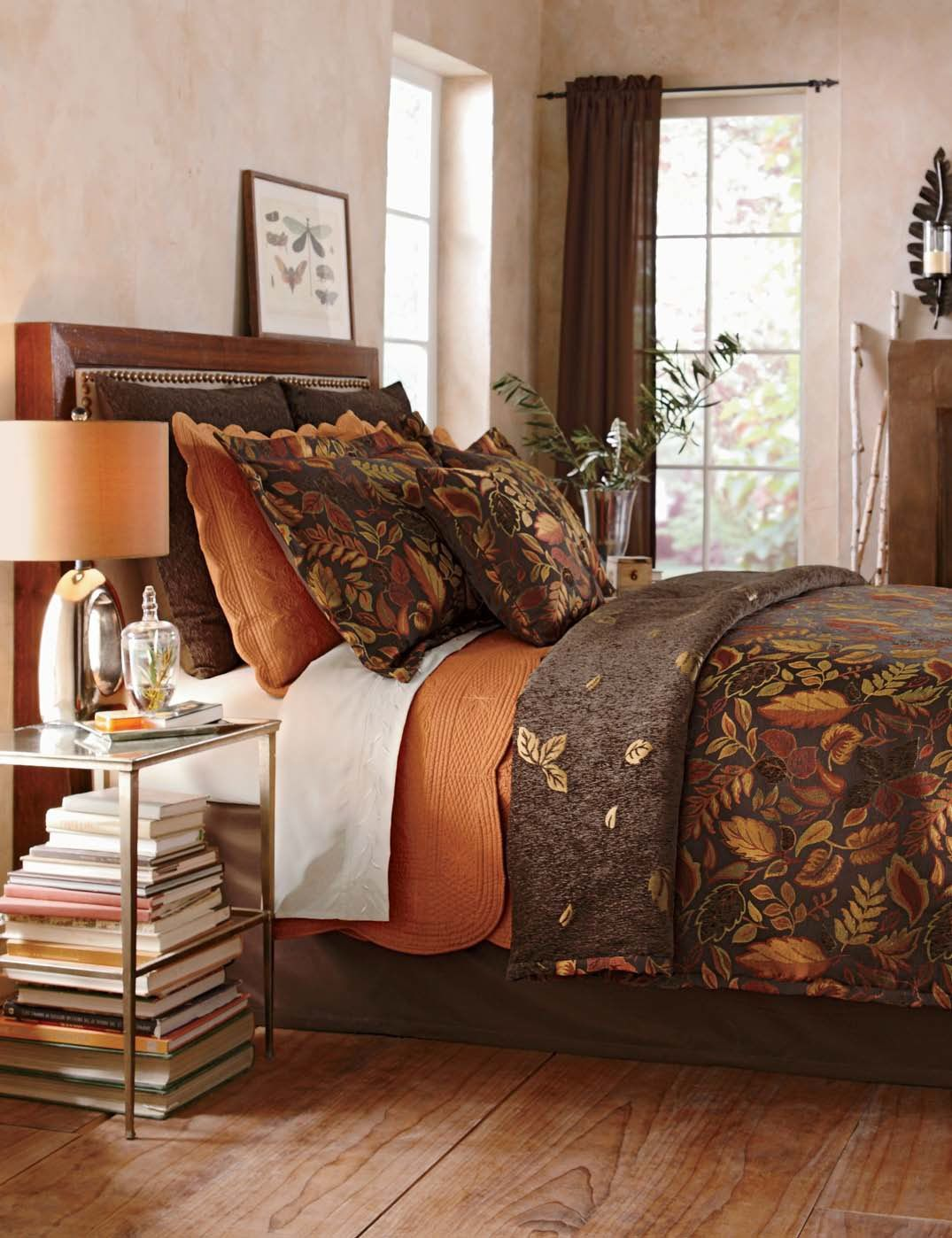 Falling Leaves Coverlet And Accessories Fall Bedroom Home Decor Modern Bedroom