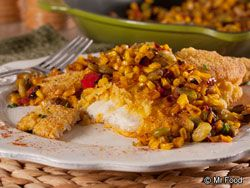 Lure your gang to the table with this all-in-one meal that starts with mild and mellow U.S. Farm-Raised catfish. Topped with a tempting corn and lima bean succotash, our Pan-Seared Catfish with Succotash will have you reeling in tasty rewards!   Read more at http://www.mrfood.com/Fish/Pan-Seared-Catfish-with-Succotash#S4EpUVAKpJSWzgYT.99