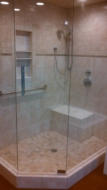 6 Foot X 4 Foot Shower With Lights Rainfall Shower And Hand Held