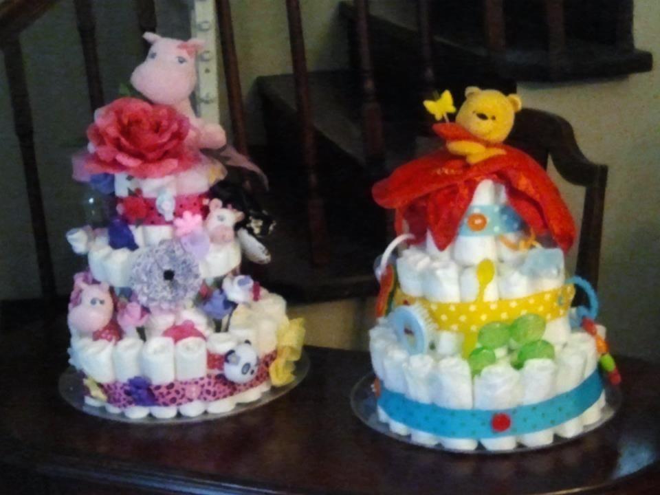 diaper cakes by Jodi Rebedew